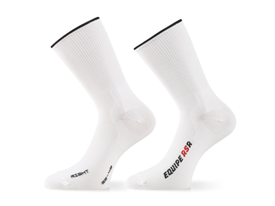 Assos RSR Socks - Cykelstrømper - Hvid