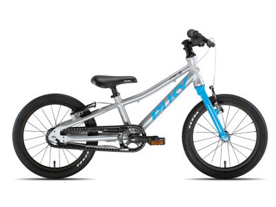 """Puky - S-Pro 16"""" Alu - Børnecykel - Sølv/Blå"""