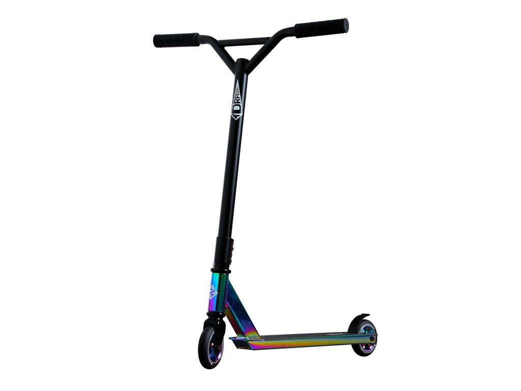Streetsurfing Torpedo - Sparkcykel till barn och nybörjare - Neochrome Svart