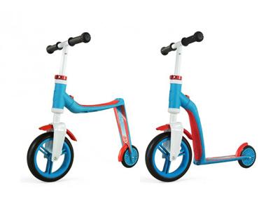 Scoot&Ride 2 i 1 løbehjul og løbecykel - Highway baby - Blå/Rød