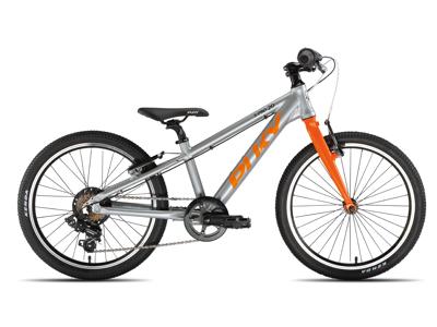 """Puky - S-Pro 20"""" Alu - Børnecykel - Sølv/Orange"""