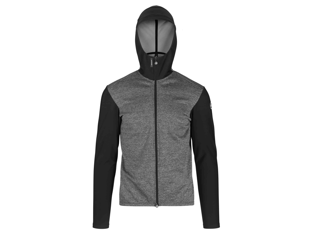 Image of   Assos Trail Spring/Fall Hooded Jacket - Cykeljakke - Grå/sort - XLG
