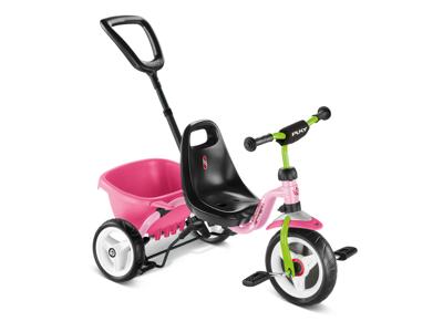 Puky - Ceety - Trehjulet med lad og skubbestang - Pink