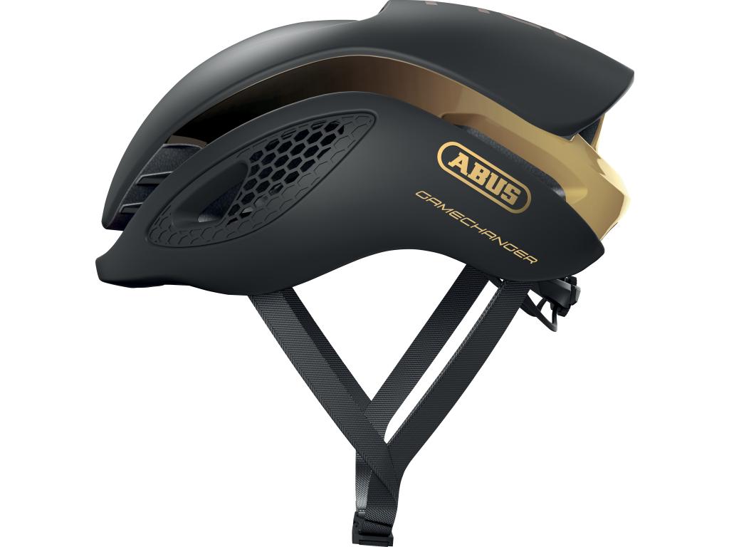 Image of   Abus GameChanger - Aero cykelhjelm - Sort/guld - Str. 51-55cm