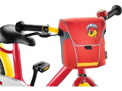 Puky - LT2 - Taske til styr  - Rød/gul med bjørn