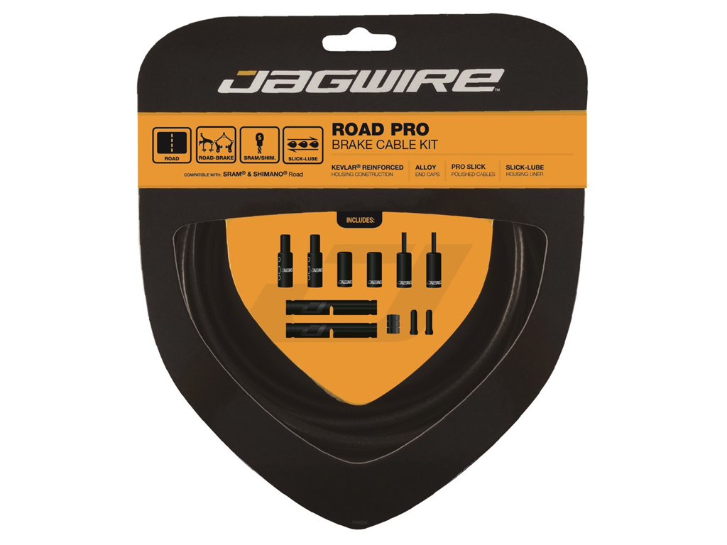Image of   Jagwire - Road Pro - bremsekabel sæt til Road - Mat sort