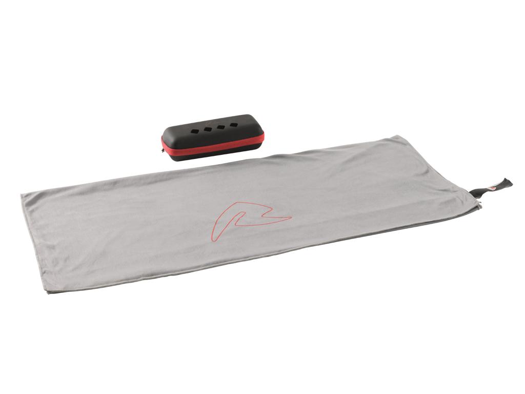 Robens - Fjell Håndklæde med Etui str L - Grå/Sort | svømmetøj og udstyr