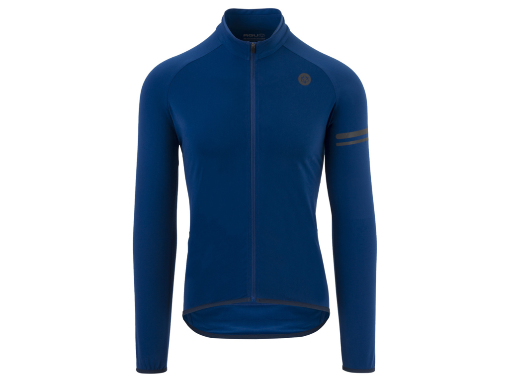 Image of   AGU Essential Thermo Jersey - Cykeltrøje L/Æ - Blå - Str. 3XL
