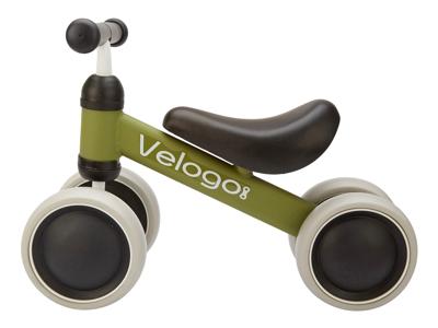 Velogo - Løbecykel - 4 hjul - Grøn