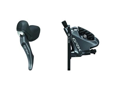 Shimano GRX - Bremsegreb venstre, bremsekaliber og olieslange - Hydraulisk - RX810/RX810