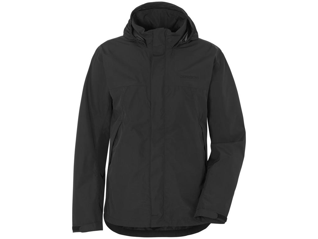 Didriksons Grand Jacket- Regnjakke Mand - Sort