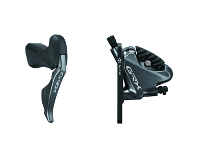 Shimano GRX - STI og bremsegreb højre Di2  11 gear, kaliber og olieslange - Hydraulisk