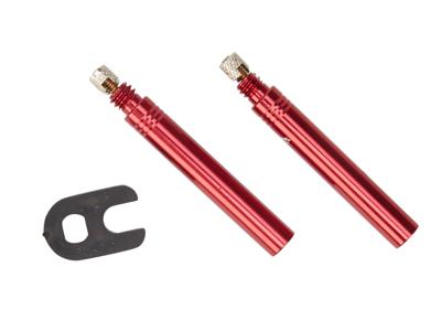 Vittoria - Ventilförlängare 42 mm - Röd - Set med två st