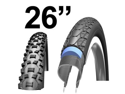 """Kanttrådsdæk til MTB cykler 26"""""""
