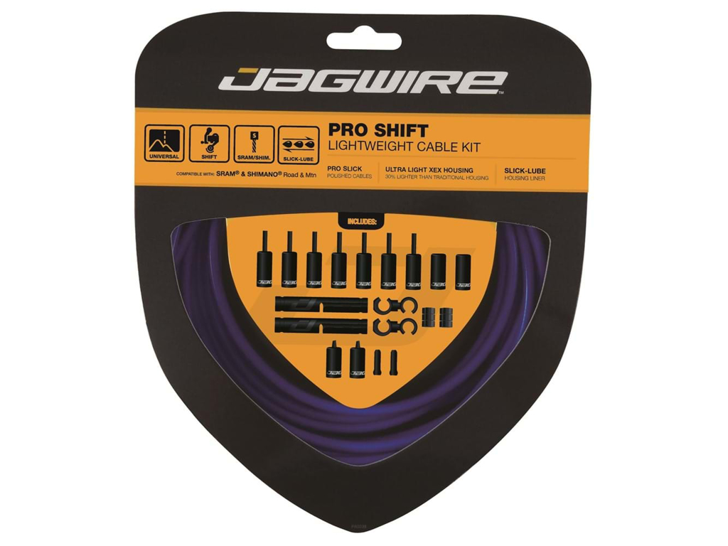 Image of   Jagwire - Pro Shift - 2x Gearkabel sæt - Road/MTB - BlåJagwire - Pro Shift - 2x Gearkabel sæt - Road/MTB - Blå