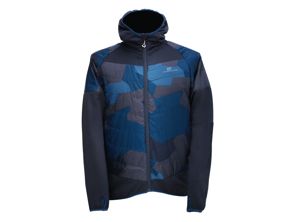2117 OF SWEDEN Blixbo ECO - Primaloft jakke - Navy camo - Str. XL thumbnail