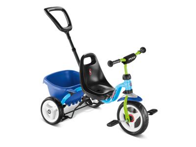Puky - Ceety - Trehjulet med lad og skubbestang - Blå