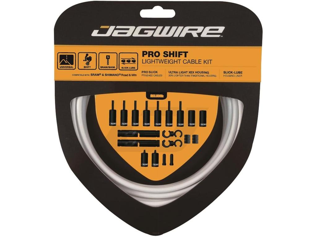 Image of   Jagwire - Pro Shift - 2x Gearkabel sæt - Road/MTB - Hvid