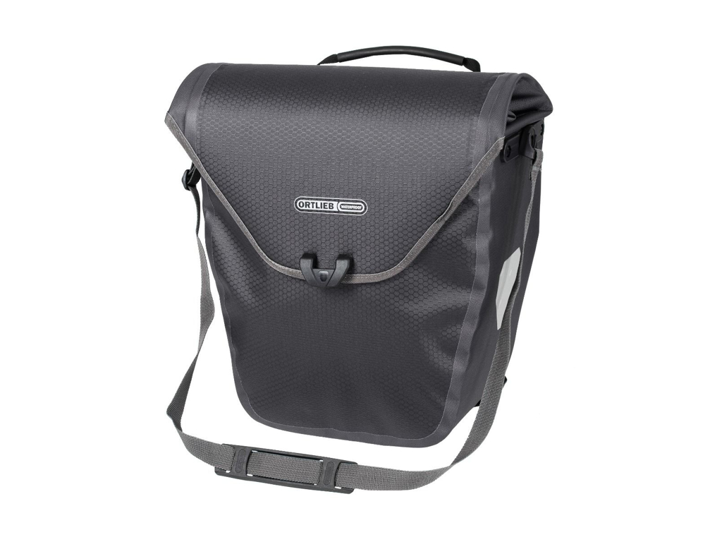 Image of   Ortlieb Velo-Shopper - Cykeltaske - 18 liter - Grå/sort
