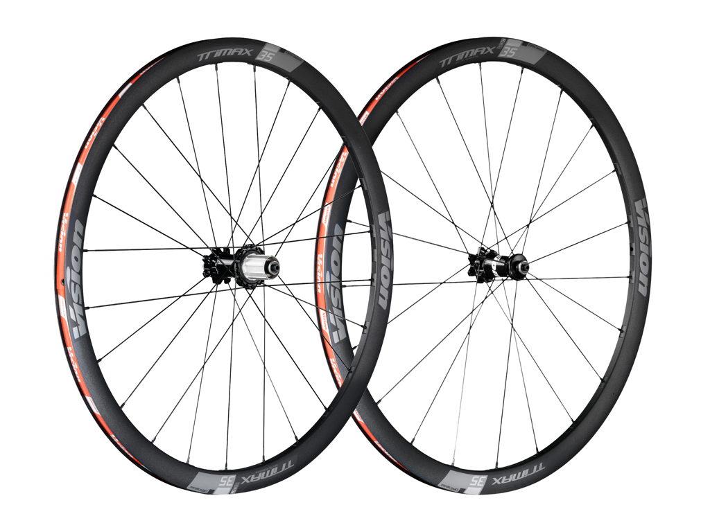 Vision Trimax 35 Disc Center Lock - Hjulsæt - 700c - Clincher - 11 gear - Sort thumbnail