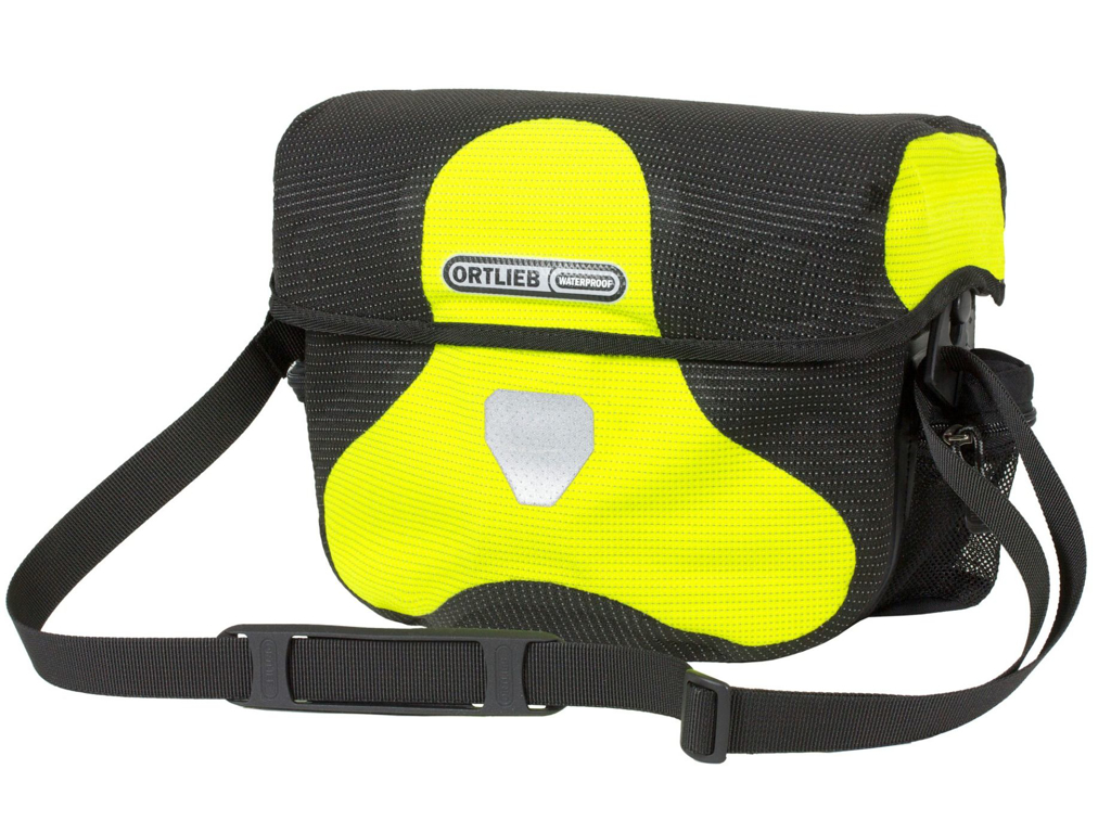 Ortlieb Ultimate Six High Visibility - Styrtaske - Sort / gul - 7 liter