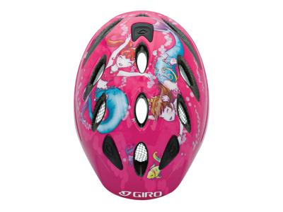 Giro Spree - Cykelhjelm til børn - Str. 46-50cm - Pink havfruer