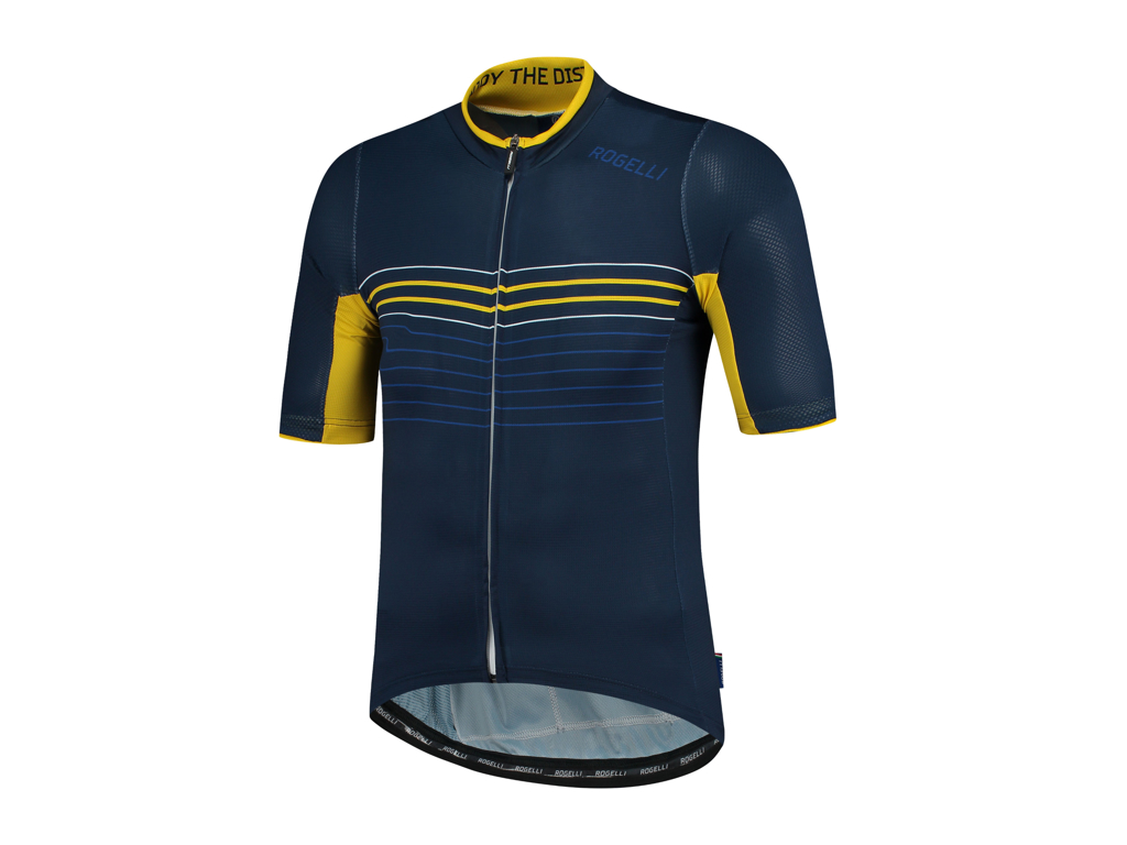 Rogelli Kalon - Cykeltrøje - Blå/Gul - Str. L