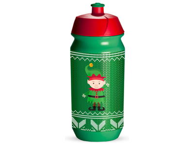 Tacx Shiva Christmas - Drikkeflaske - 500 ml - Grøn/nisse