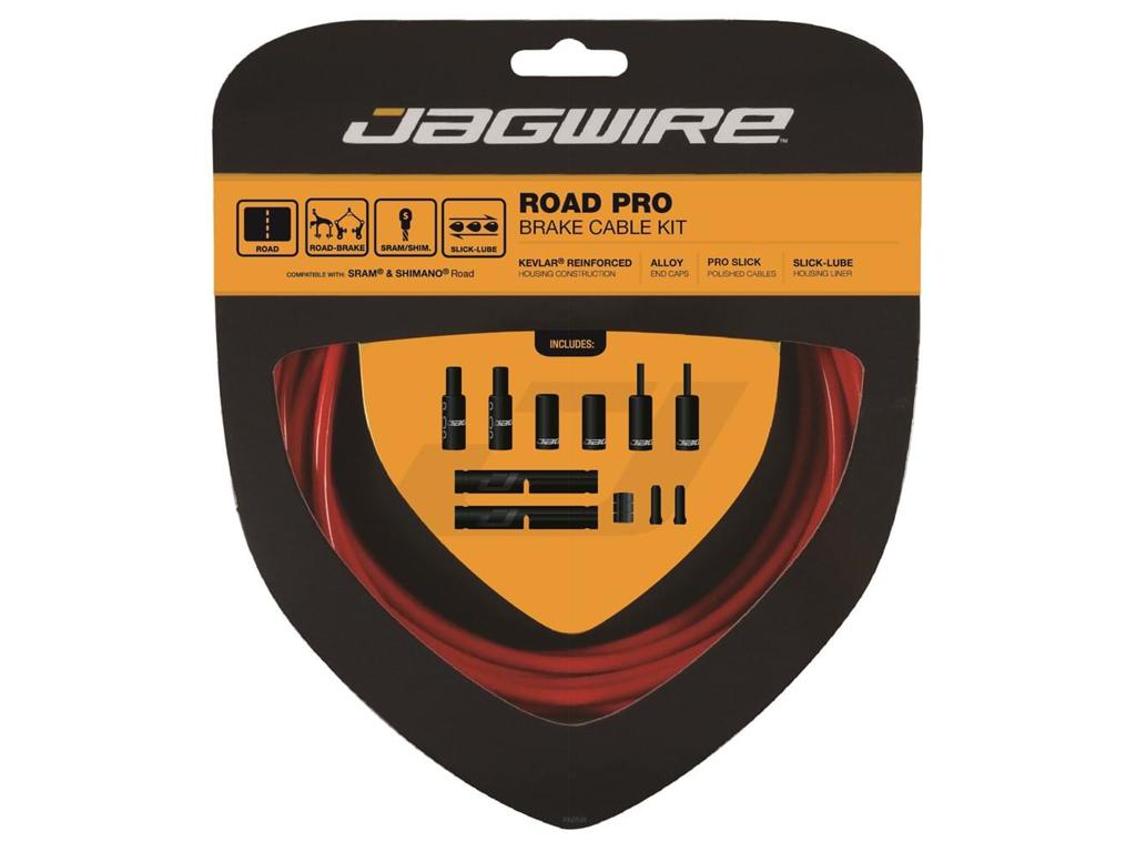 Image of   Jagwire - Road Pro - bremsekabel sæt til Road - Rød