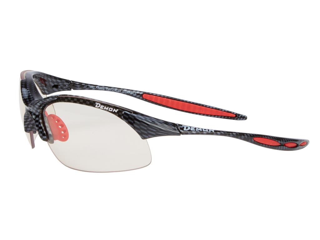 Demon 832 - Løbe- og cykelbrille med fotokromisk linse - Carbon look