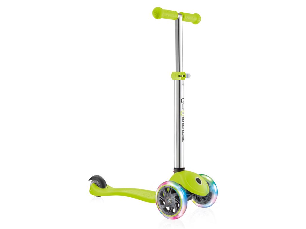 Image of   Globber Primo Lights V2 - Løbehjul til børn med 3 hjul og lys - Grøn