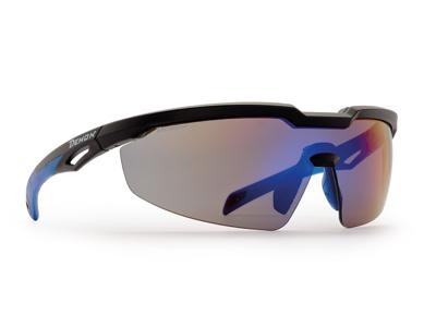 Demon Grinta - Løbe- og cykelbrille - Matsort/blå