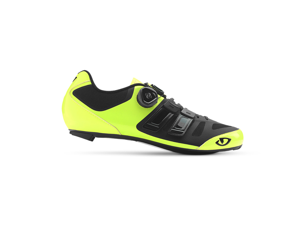 Image of   Giro Sentrie Techlace - Cykelsko Road - Str. 45 - Neongul/Sort