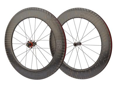 Retrospec - Superlight carbon - Hjulsæt - 700C - Road - 88 mm - Clincher - Sort