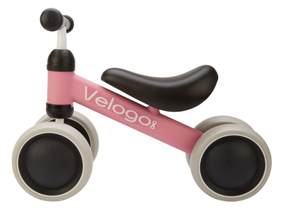 Velogo - Løpesykkel - 4 hjul - Rosa