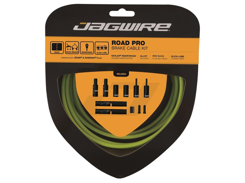 Image of   Jagwire - Road Pro - bremsekabel sæt til Road - Grøn