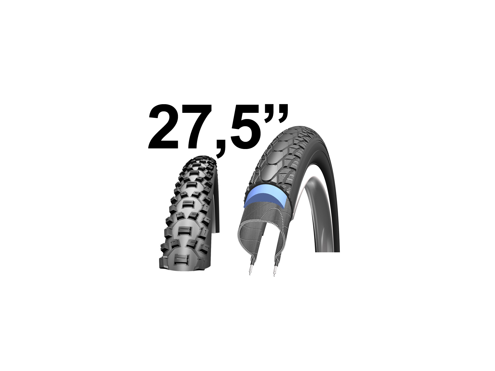 "Kanttrådsdæk til MTB cykler 27,5"" / 650B"
