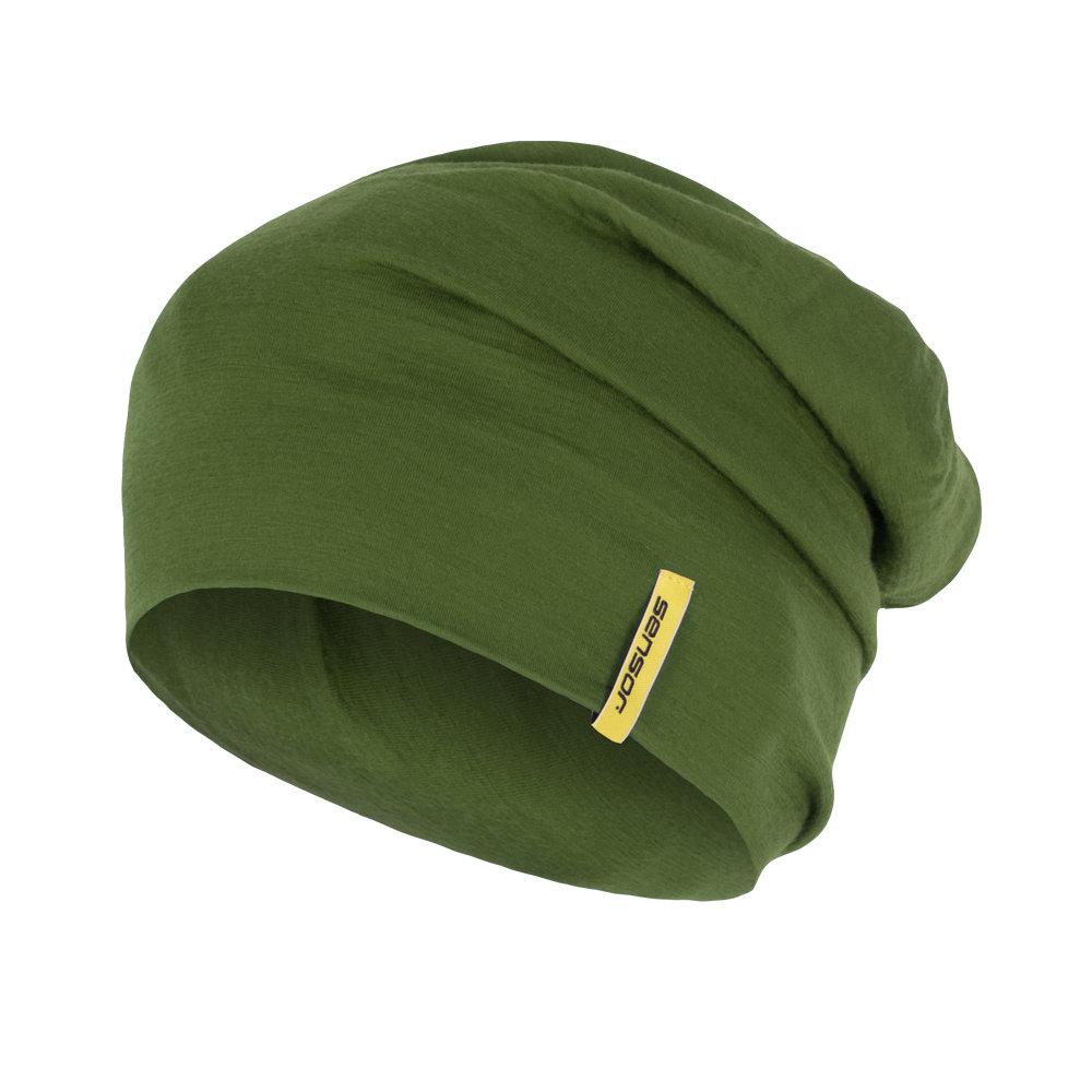 Sensor hue - Merino uld - Grøn | Hovedbeklædning