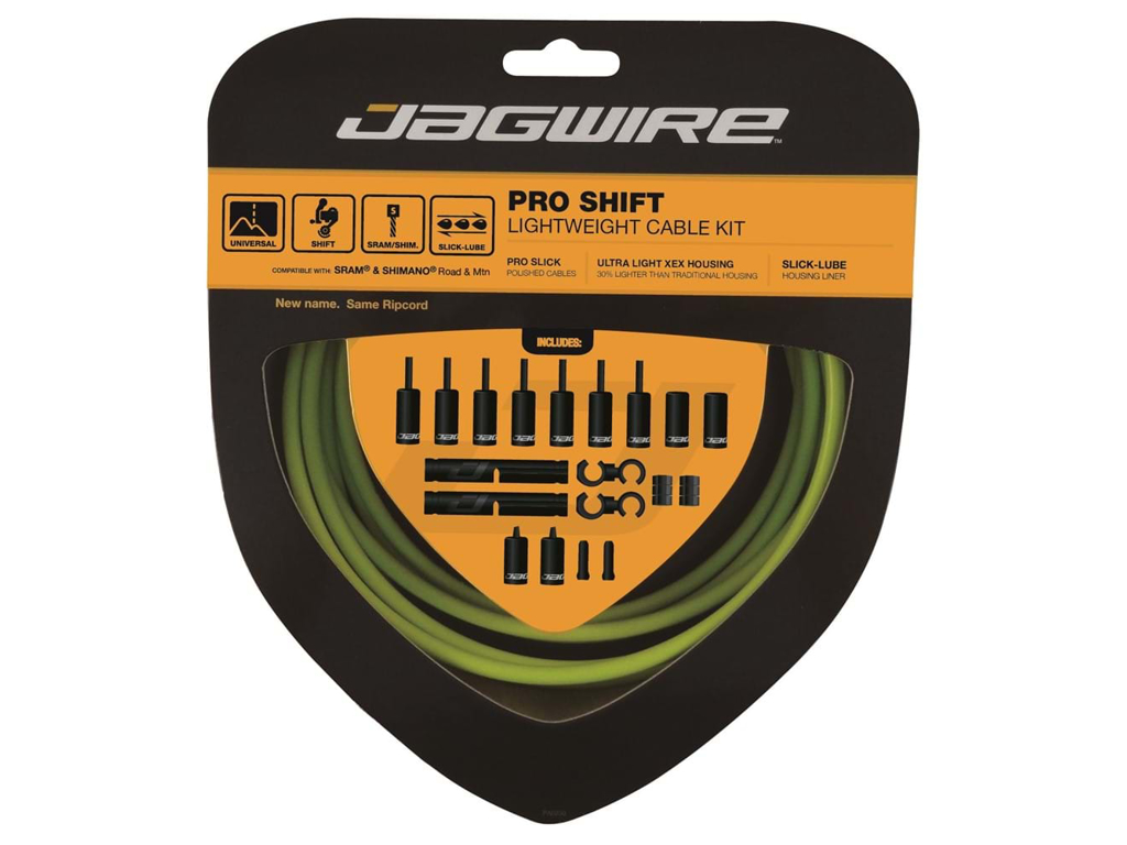 Image of   Jagwire - Pro Shift - 2x Gearkabel sæt - Road/MTB - Grøn