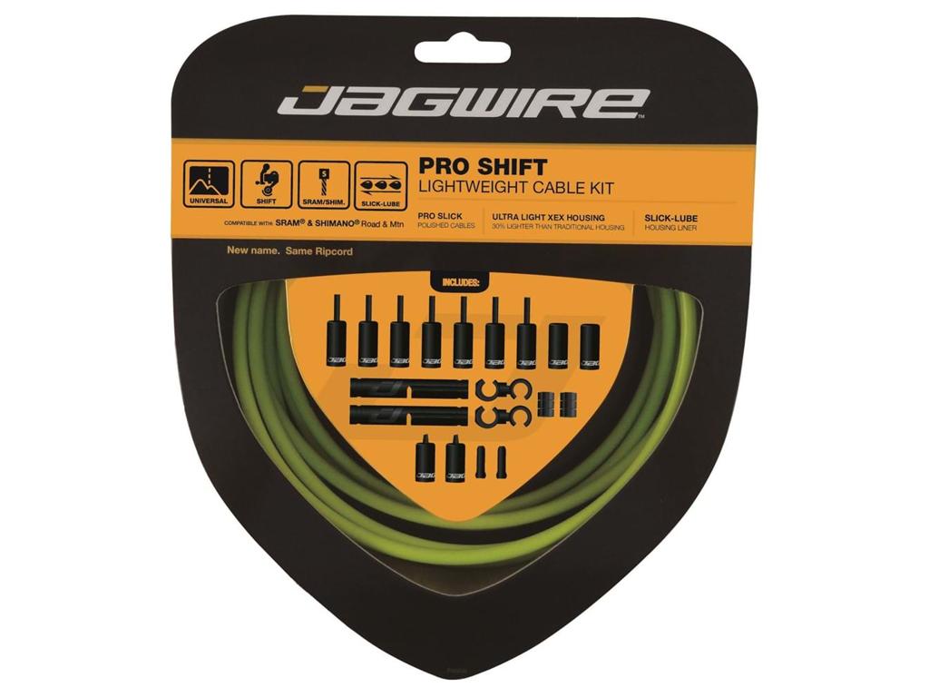 Jagwire - Pro Shift - 2x Gearkabel sæt - Road/MTB - Grøn thumbnail