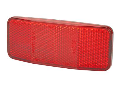 Atredo - Reflektor for bagasjebærer - 50 og 80 mm beslag - Rød