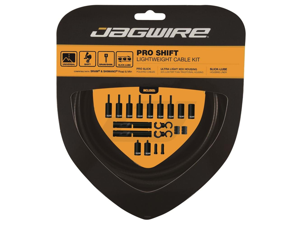 Image of   Jagwire - Pro Shift - 2x Gearkabel sæt - Road/MTB - Mat Sort