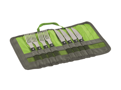 Outwell BBQ Cutlery Set - Bestik til 4 personer - Sort