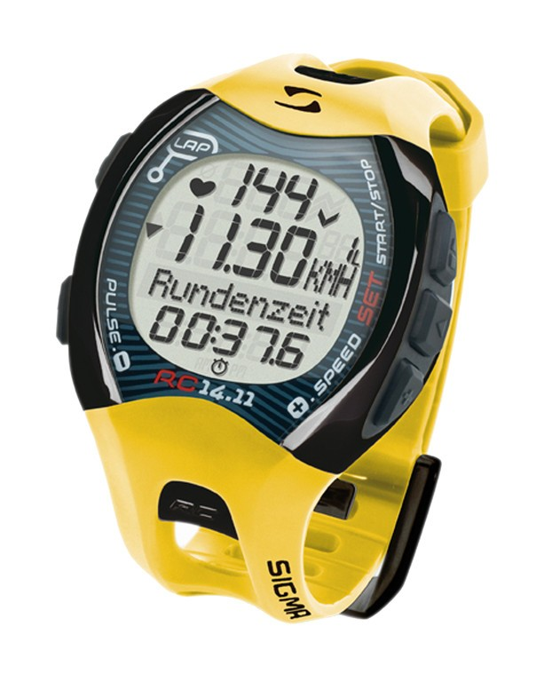 Sigma Sport - RC 14.11 - Løbecomputer - Gul | Sports watches