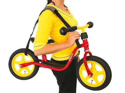 Bæresele til Puky løbecykel - Sort/rød