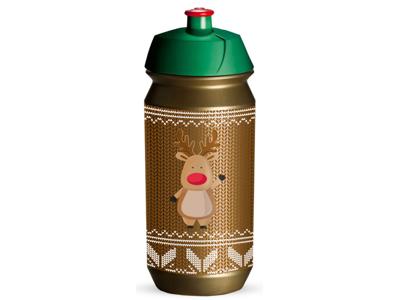 Tacx Shiva Christmas - Drikkeflaske - 500 ml - Guld/Rudolf