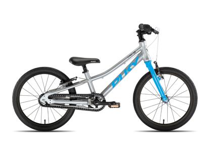 """Puky - S-Pro 18"""" Alu - Børnecykel - Sølv/Blå"""