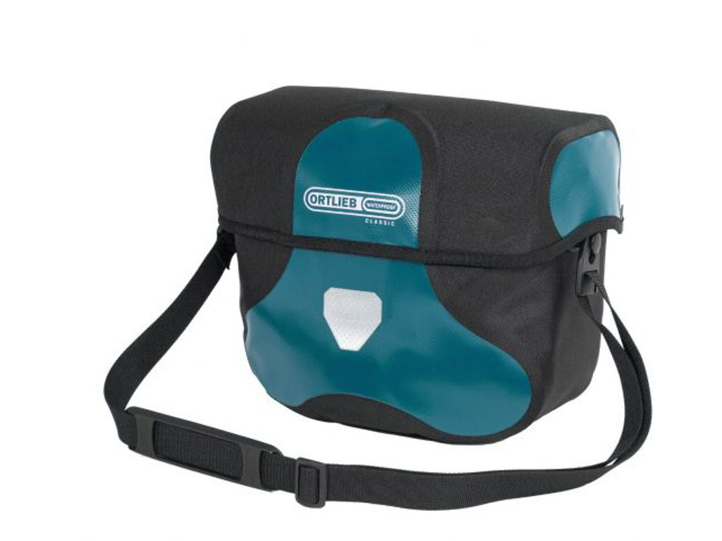 Ortlieb Ultimate Six Classic - Styrtaske - 7 liter - Sort / petroleum