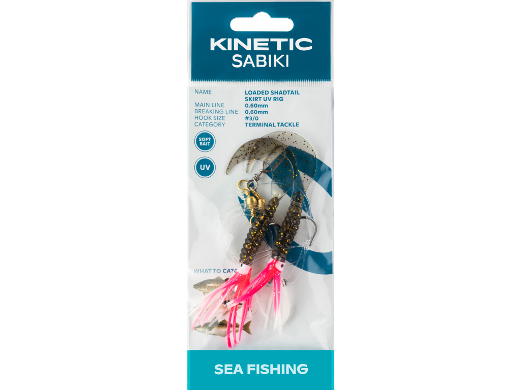 Kinetic Sabiki Loaded Shadtail Skirt UV