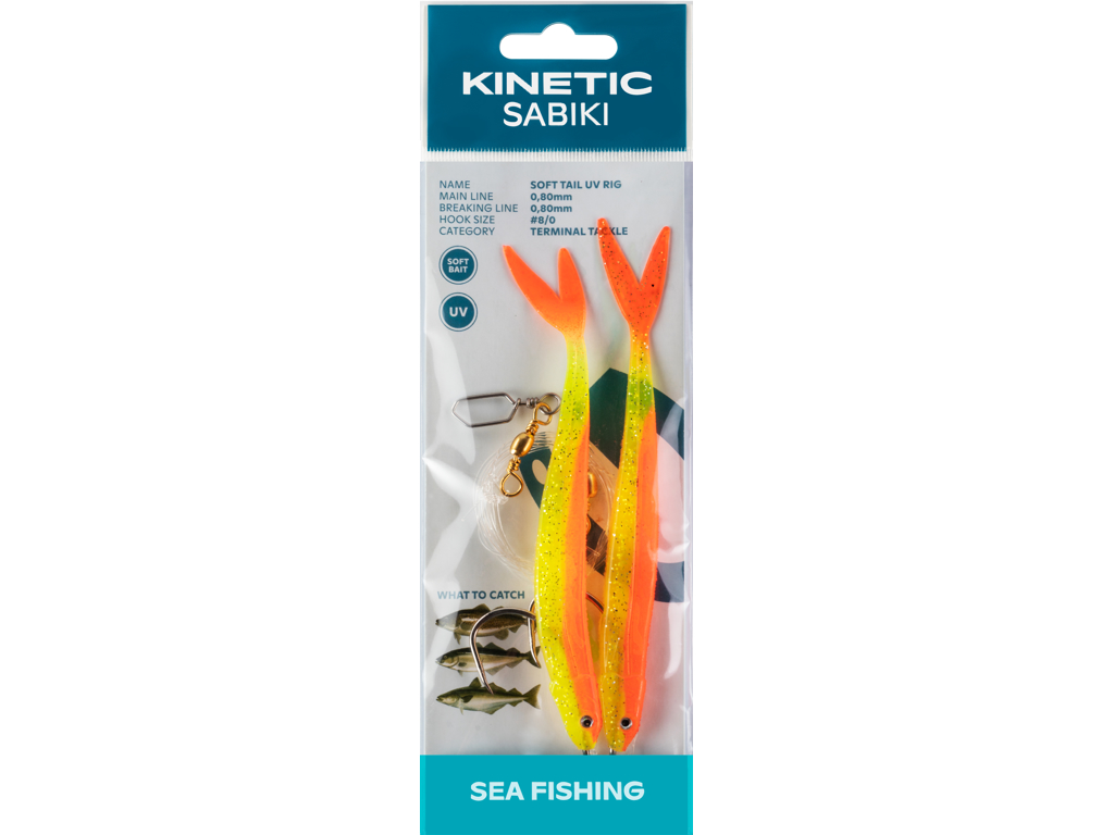 Kinetic Sabiki Soft Tail UV